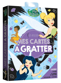 LA FEE CLOCHETTE - POCHETTE LES ATELIERS - MES CARTES A GRATTER - DISNEY - .
