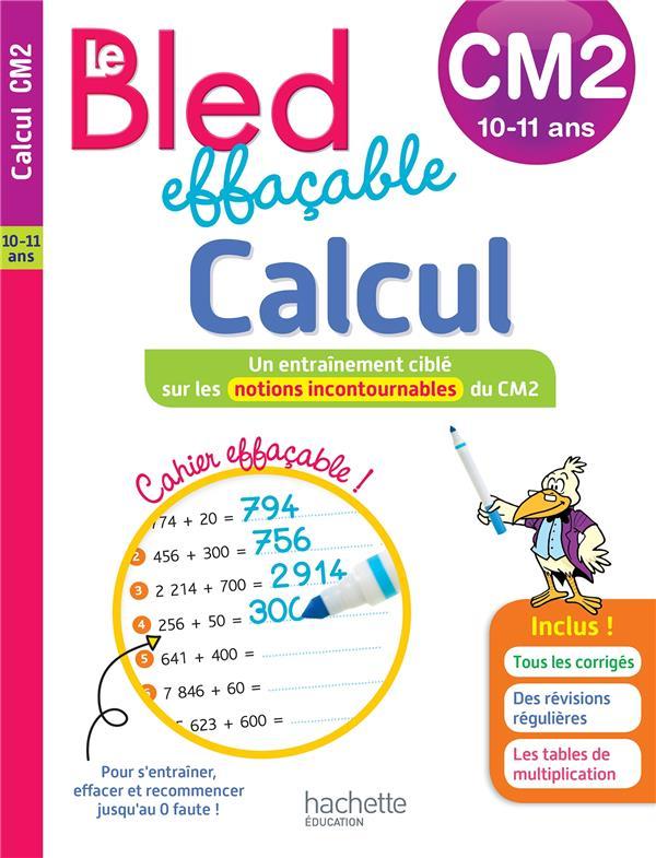 Bled effacable calcul cm2