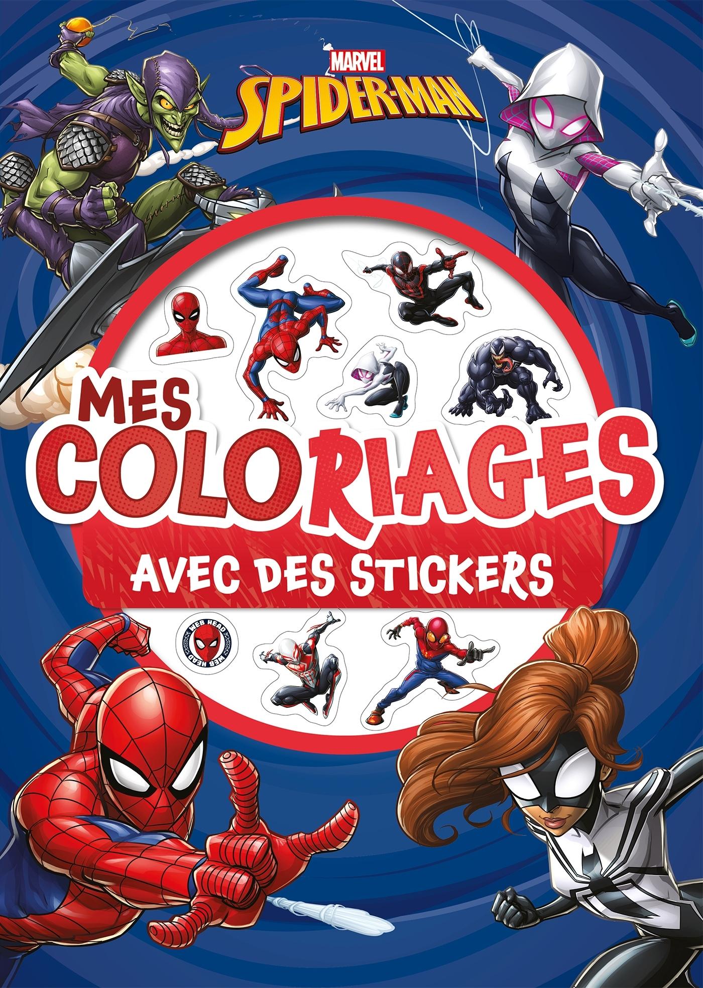 SPIDER-MAN - MES COLORIAGES AVEC STICKERS