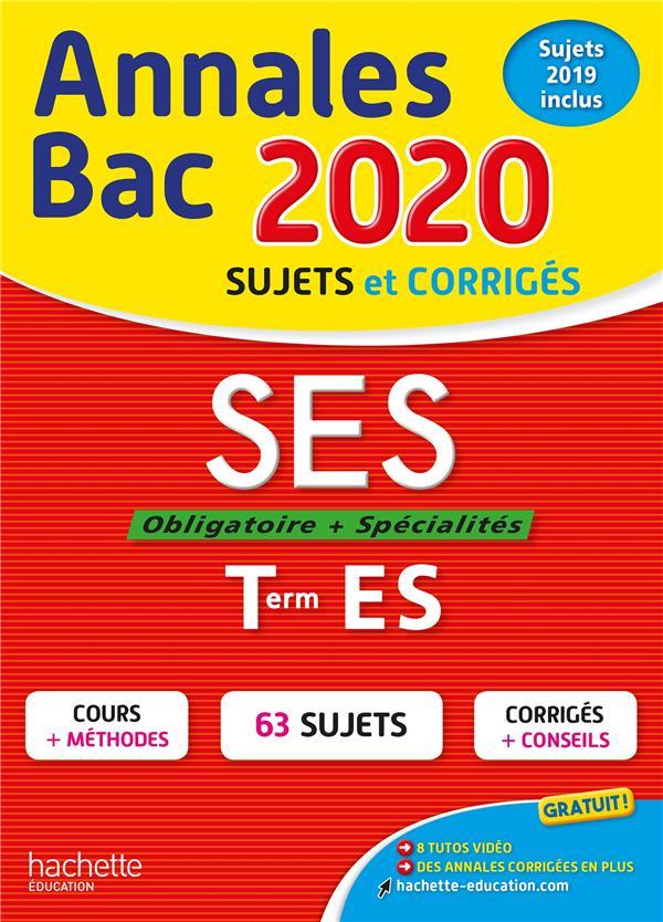 Annales bac 2020 ses term es