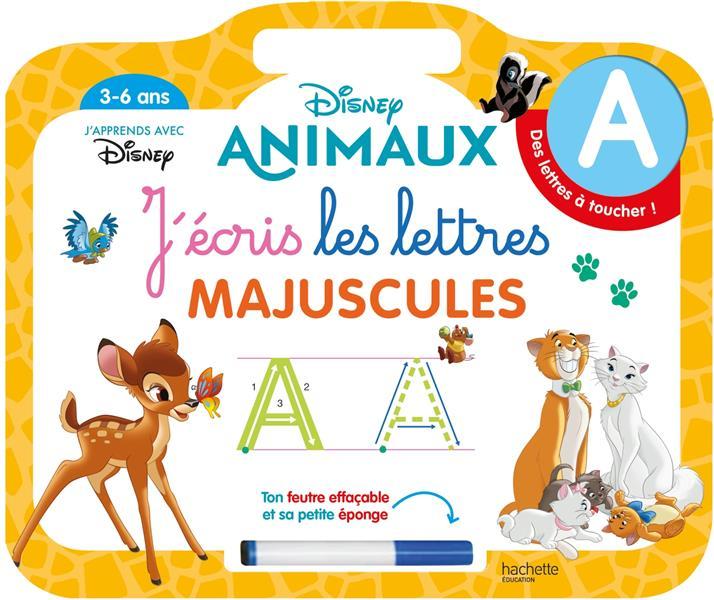Disney animaux ardoise j'ecris les lettres majuscules (3-6 ans)