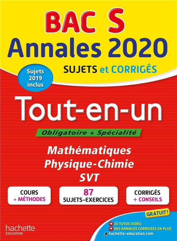 Annales bac 2020 tout-en-un bac s