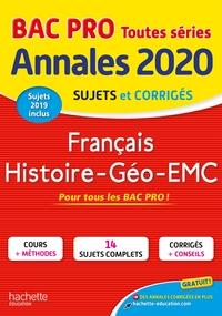 ANNALES BAC 2020 HIST-GEO FRANCAIS BAC PRO