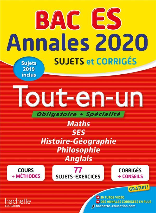 Annales bac 2020 tout-en-un bac es