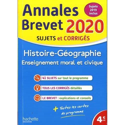 Annales brevet 2020 histoire-geographie-emc