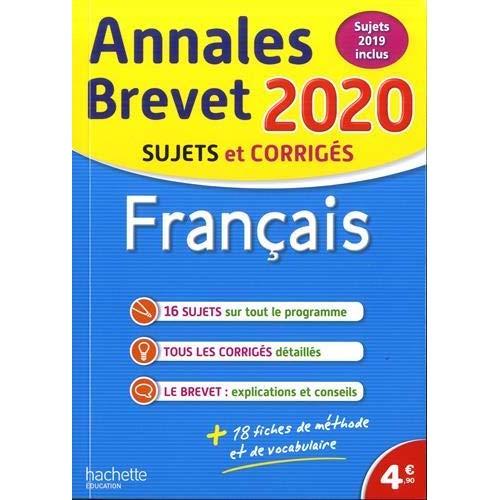 Annales brevet 2020 francais