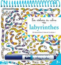 LABYRINTHES - BLOC A SPIRALE AVEC FEUTRE EFFACABLE