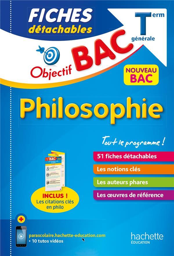 Objectif bac fiches detachables philosophie term