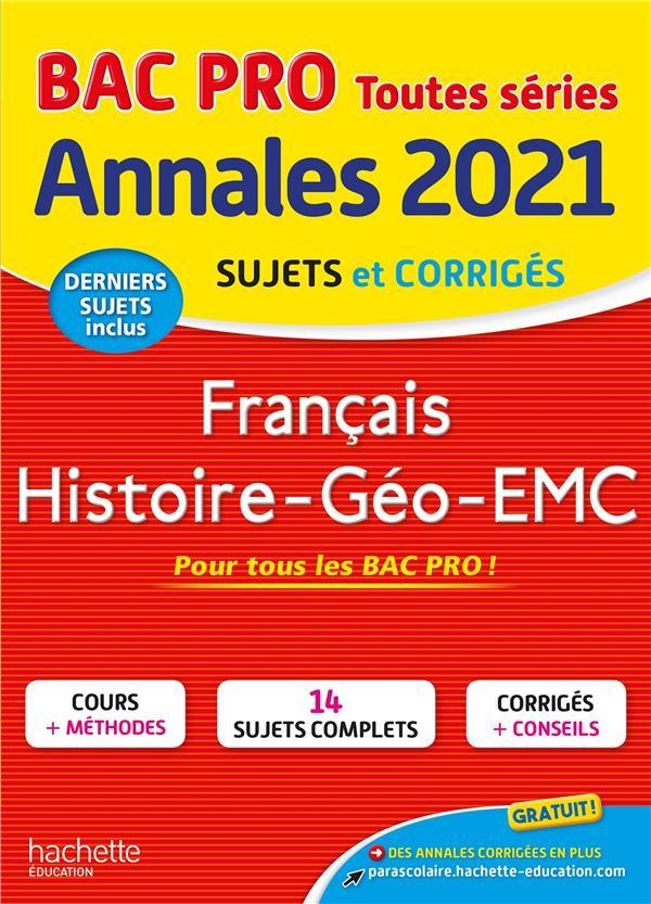 Annales bac 2021 hist-geo francais bac pro