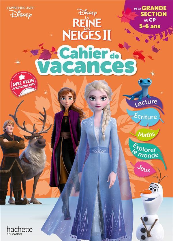 Disney - reine des neiges - de la grande section au cp - cahier de vacances 2021