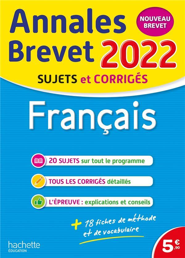 Annales brevet 2022 francais