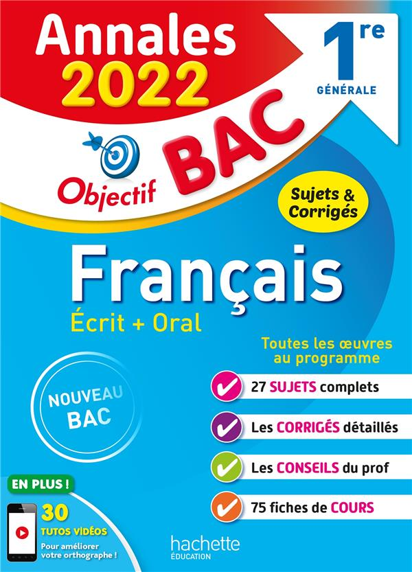 Annales objectif bac 2022 francais 1res
