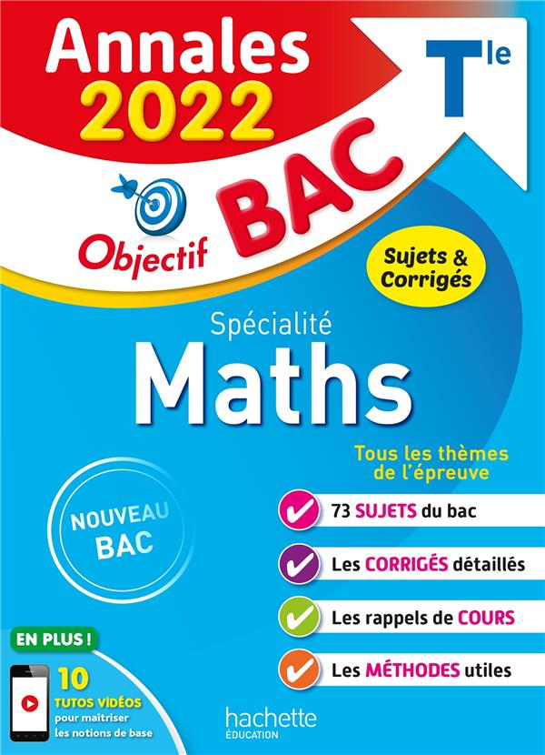 Annales objectif bac 2022 specialite maths