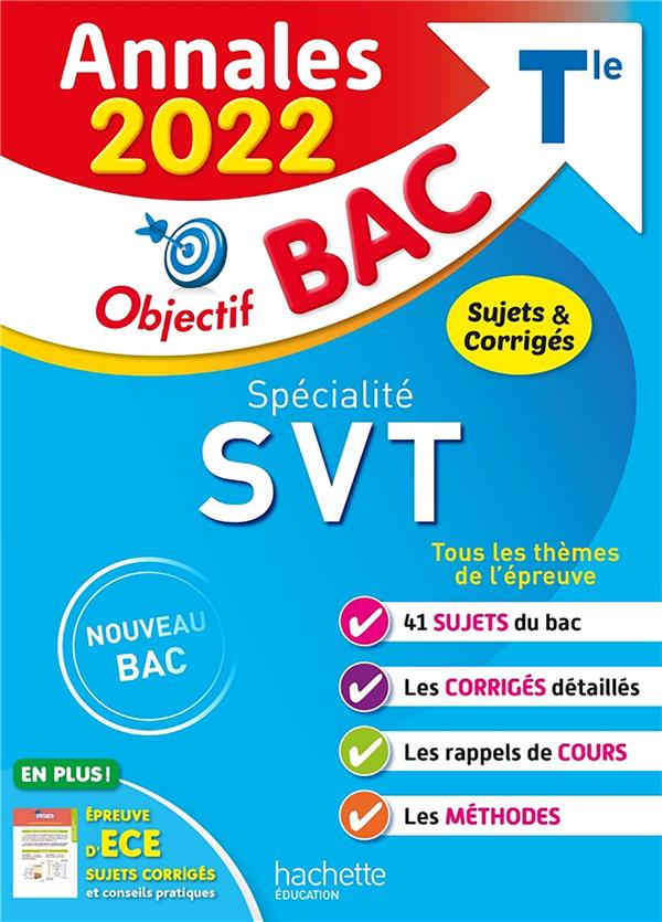 Annales objectif bac 2022 specialite svt