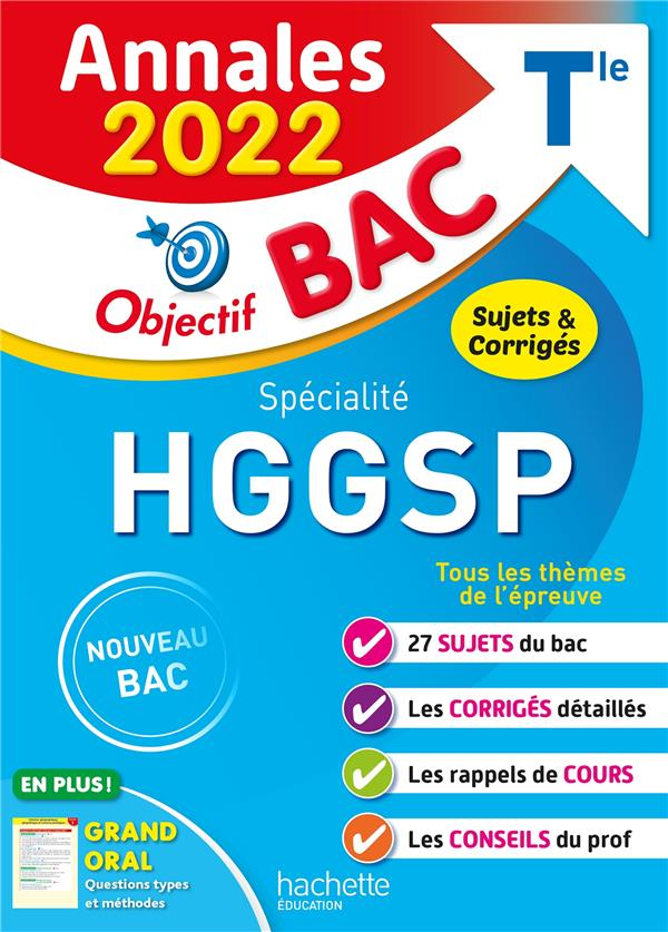 Annales objectif bac 2022 specialite histoire-geo