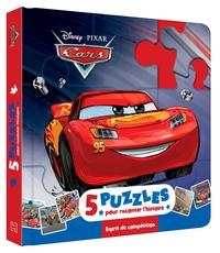 CARS - MON PETIT LIVRE PUZZLE - 5 PUZZLES 9 PIECES - DISNEY PIXAR