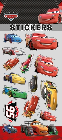 CARS, STICKER SHEETS GLITTER