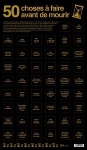 POSTER BUCKET LIST: 50 CHOSES A FAIRE AVANT DE MOURIR