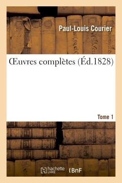 OEUVRES COMPLETES TOME 1