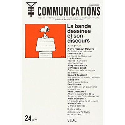COMMUNICATIONS, N  24, LA BANDE DESSINEE ET SON DISCOURS