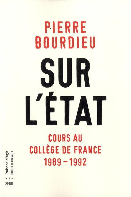 Sur l'etat. cours au college de france (1989-1992)