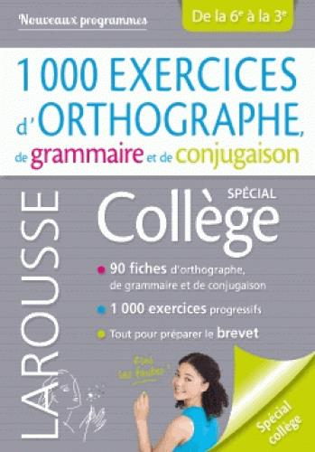 1000 EXERCICES D'ORTHOGRAPHE, SPECIAL COLLEGE