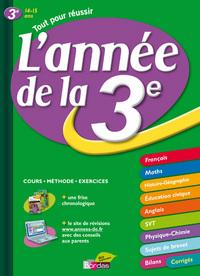 ANNEE DE LA 3E  14-15 ANS  ED 2009 TOUT POUR REUSSIR