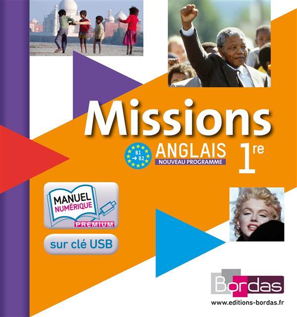 MISSIONS ANGLAIS 1ERE 2011 MANUEL NUMERIQUE ENSEIGNANT SUR CLE USB 100% NUMERIQUE