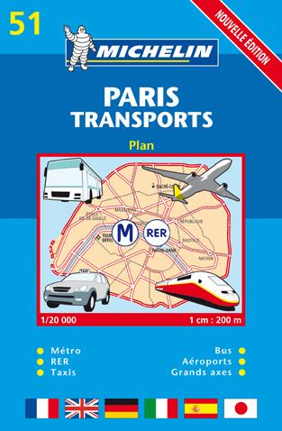 PLAN PARIS TRANSPORTS 2009