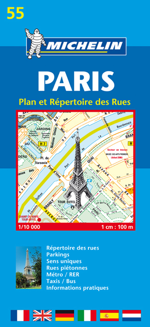 PLAN 55 PARIS INDEX RUES 2009
