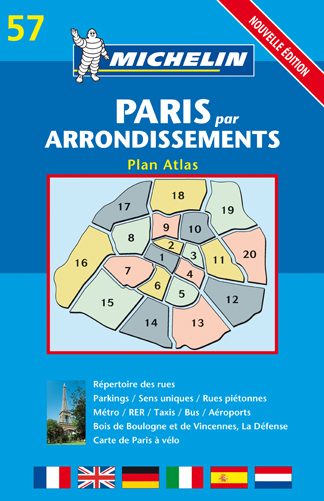 PLAN ATLAS PARIS PAR ARRONDISSEMENT