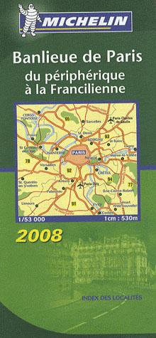 AED BANLIEUE DE PARIS 2008  1/53.000