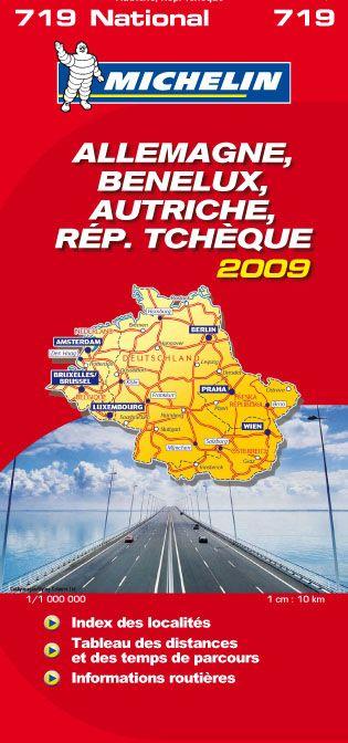 CARTE ROUTIERE 719 ALLEMAGNE/BENELUX/AUTRICHE/REPUBLIQUE TCHEQUE 2009