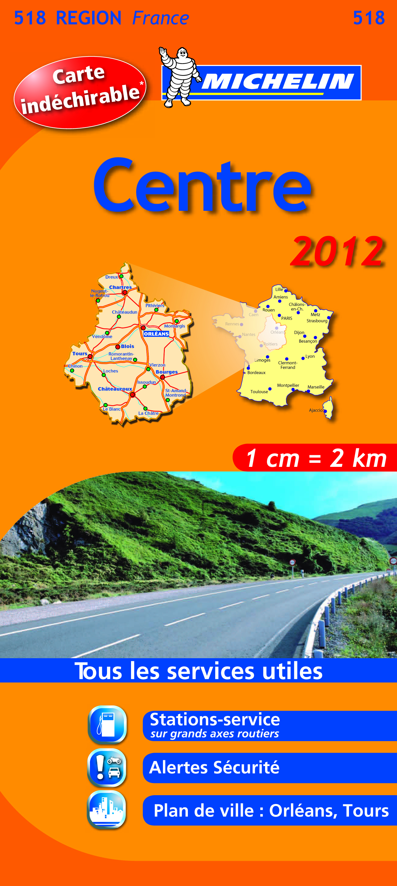 CARTE ROUTIERE 518 CENTRE 2012