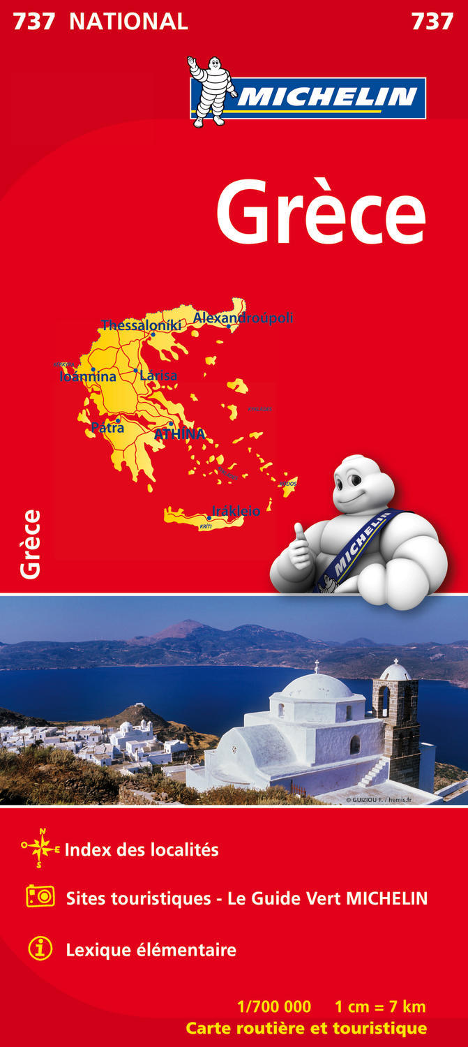 CARTE NATIONALE 737 GRECE