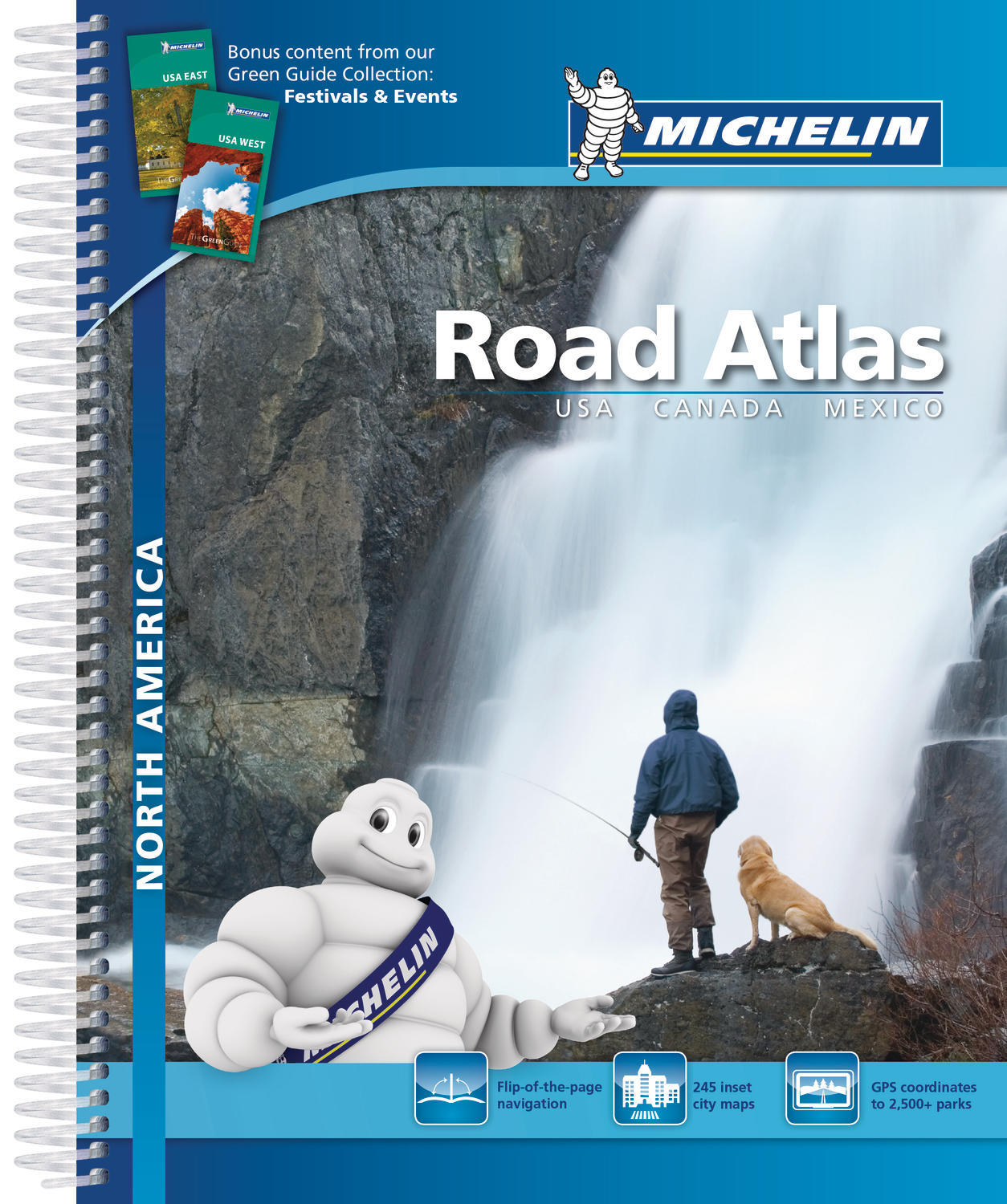 NORTH AMERICA-ROAD ATLAS-USA,CANADA,MEXICO(A4-SPIRALE)