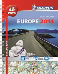 EUROPE 2014 - ATLAS ROUTIER ET TOURISTIQUE (A4-SPIRALE)
