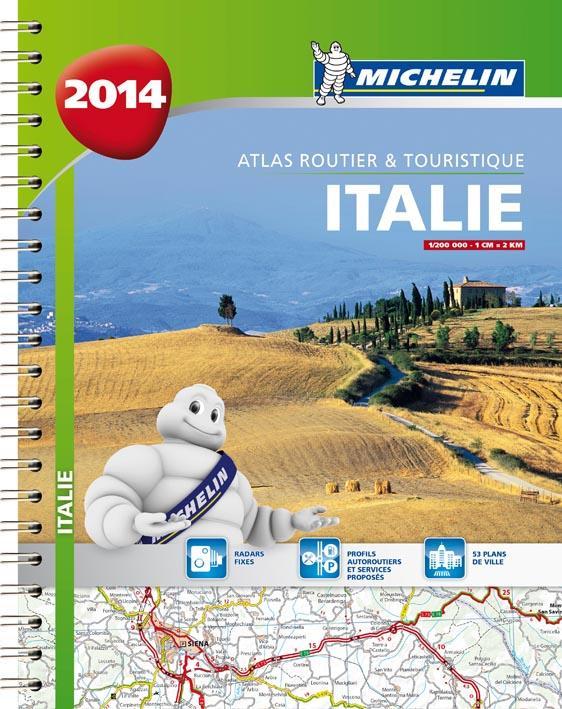 ITALIE 2014 - ATLAS ROUTIER ET TOURISTIQUE (A4-SPIRALE)
