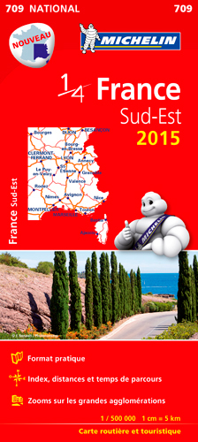 CARTE NATIONALE 709 FRANCE SUD-EST 2015