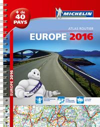 EUROPE 2016 - ATLAS ROUTIER ET TOURISTIQUE (A4- SPIRALE)