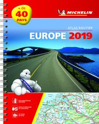 EUROPE 2019 - ATLAS ROUTIER ET TOURISTIQUE (A4 - SPIRALE)