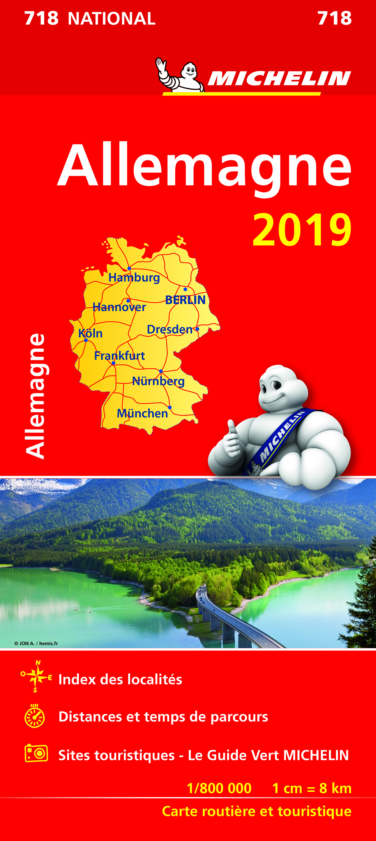 CARTE NATIONALE 718 ALLEMAGNE 2019
