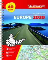 EUROPE 2020 - ATLAS ROUTIER ET TOURISTIQUE ( A4 SPIRALE)
