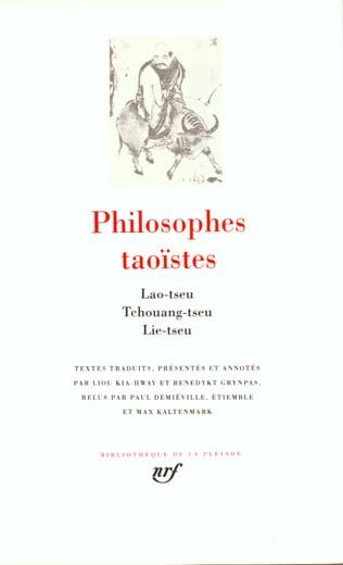 Philosophes taoistes - vol01
