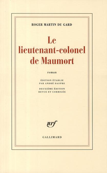 Le lieutenant-colonel de maumort