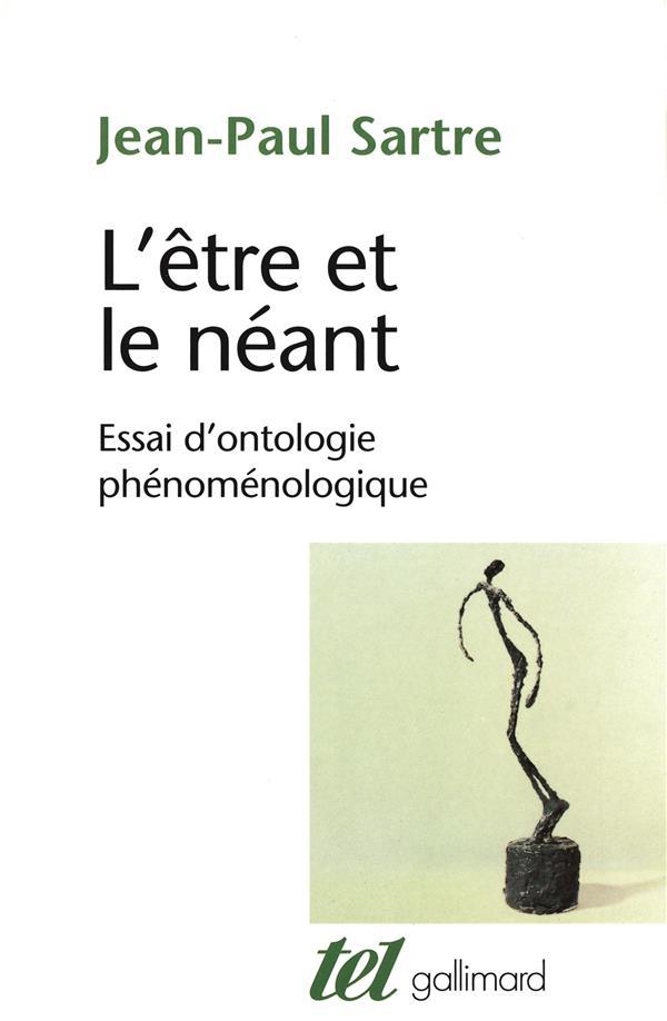 L'ETRE ET LE NEANT - ESSAI D'ONTOLOGIE PHENOMENOLOGIQUE