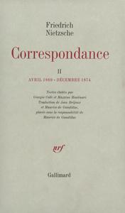 CORRESPONDANCE (TOME 2-AVRIL 1869 - DECEMBRE 1874)