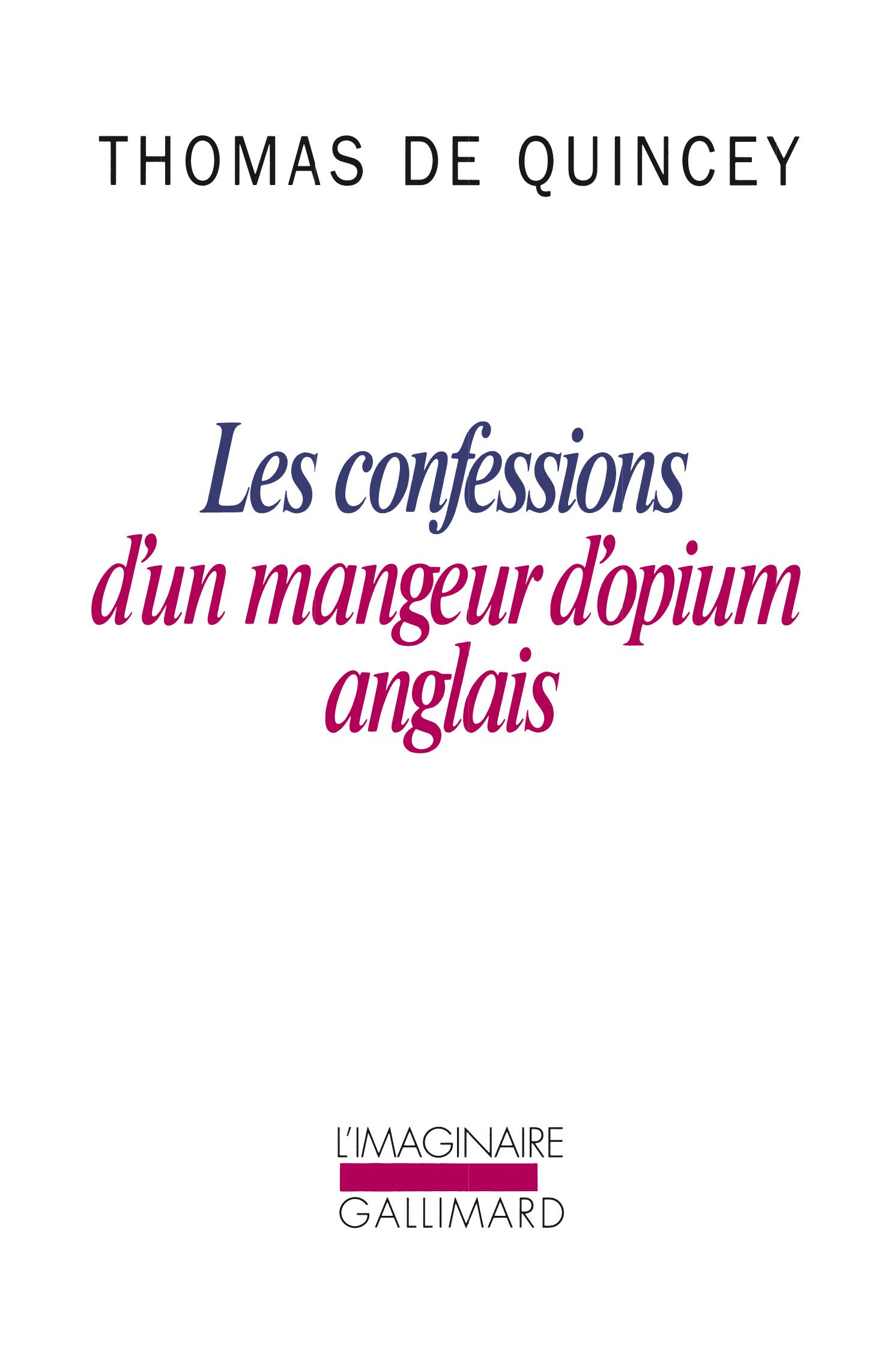 LES CONFESSIONS D'UN MANGEUR D'OPIUM ANGLAIS / SUSPIRIA DE PROFUNDIS /LA MALLE-P