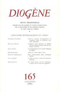 DIOGENE - STRUCTURES MYTHOLOGIQUES DU CHAOS