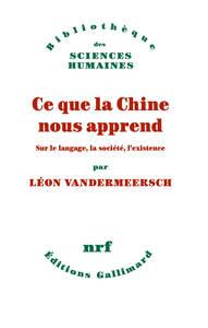 CE QUE LA CHINE NOUS APPREND - SUR LE LANGAGE, LA SOCIETE, L'EXISTENCE